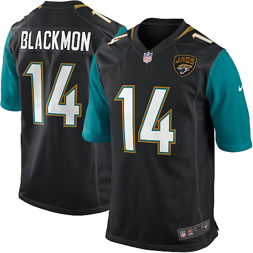 Justin Blackmon Nike Jacksonville Jaguars Game Black Alternate Jersey